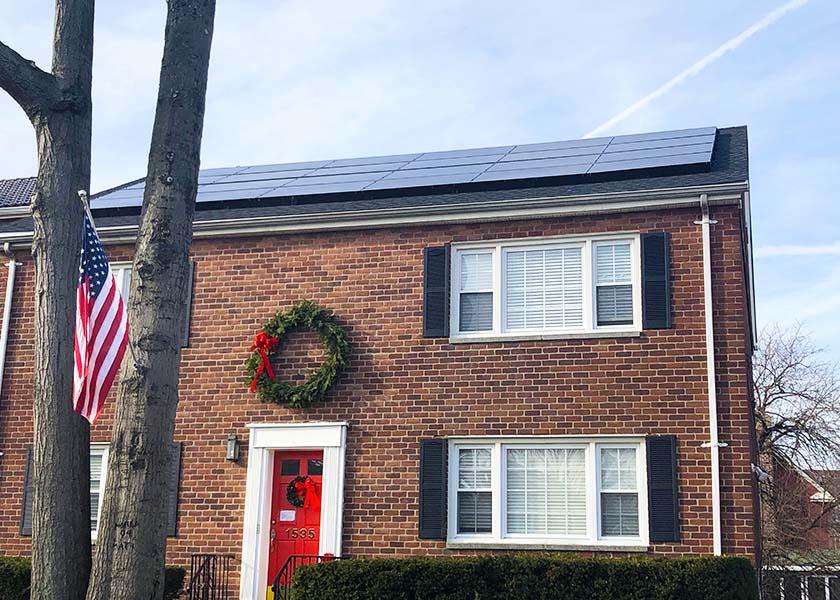 Solar Panels on Brick House